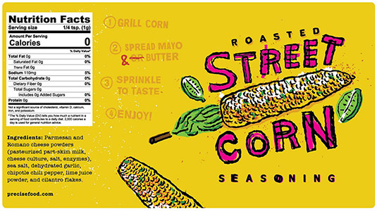 street-corn-food-product-label